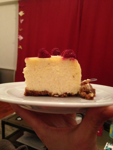 Une part de cheesecake